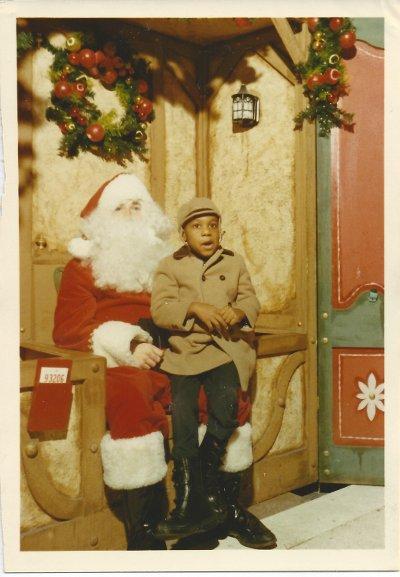 Young Brian and Santa